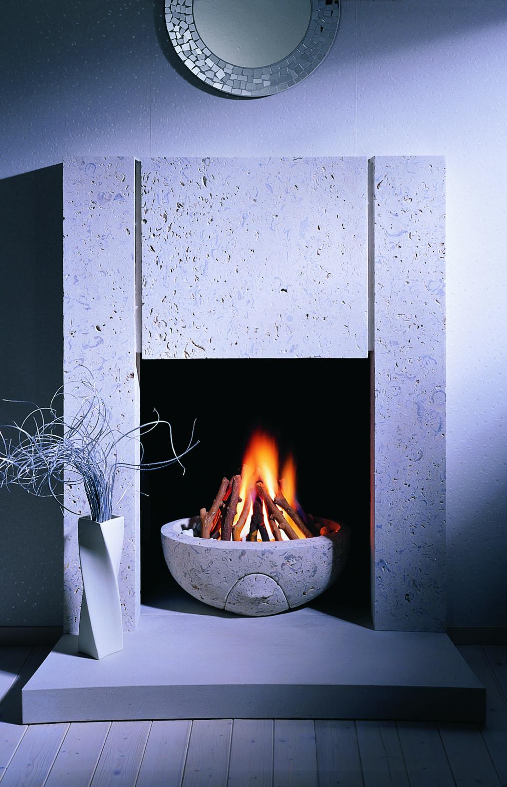 6. Portland Roach stone surround and firebowl – Highgate