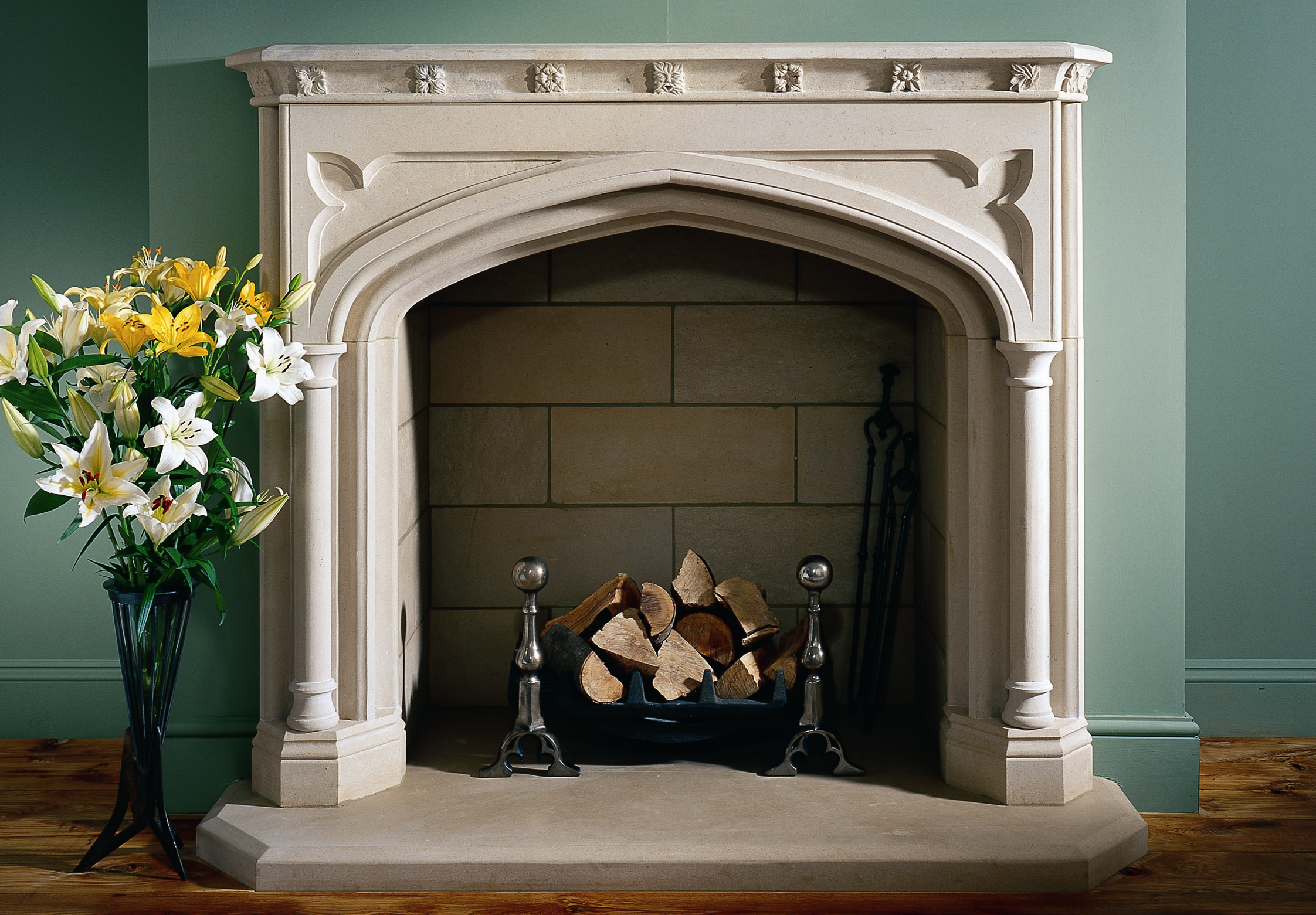 11. Gothic revival style fireplace in Portland Basebed – Staffordshire